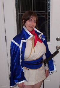 Me, wearing my (still incomplete) Isabeau costume on Halloween